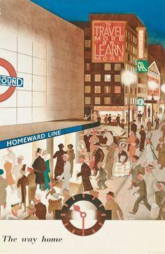 The Way Home - London Underground.  ^_^
