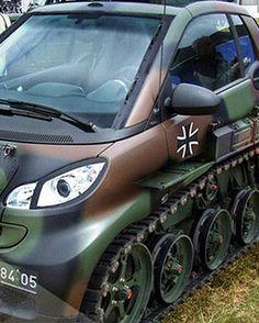 Smart Car Tank, cool.