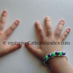 Good Deed Beads Bracelet...to help stick to Lenten resolutions!