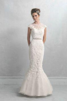 Elegant Allure Bridals wedding dress: http://www.stylemepretty.com/2014/10/29/12-high-neckline-dresses-that-are-absolutely-stunning/