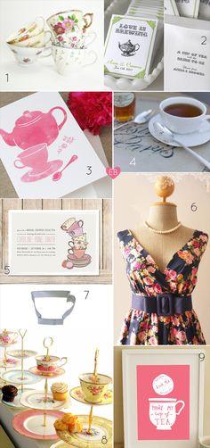 Planning a Bridal Shower - Tea Theme (via EmmalineBride.com)