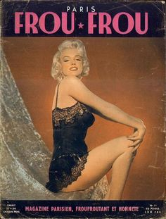 """Vintage Marilyn """"Frou-Frou"""" magazine cover"""