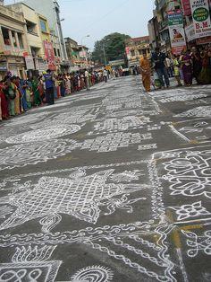 #Kolam everywhere at Mylapore