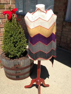 Sand Art Shawl pattern by Dina Mor. She used my favorite Shibui yarn - Pebble.