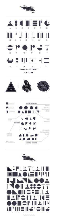 ISTD - Flatland Typeface by Petros Afshar, via Behance