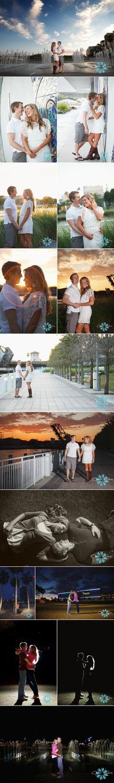 romantic #sunset #engagement session! #Curtis Hixon Park #Tampa