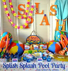 Splish Splash Pool Party - this is so cute (and inexpensive!)