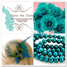peacock themed wedding   ... peacock-themed wedding: save-the-date cards, flowers, hair accessories