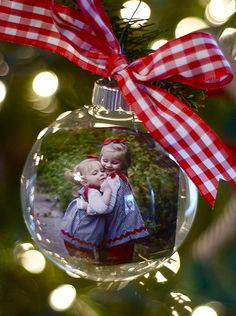Photo Ornament-cute idea for next year...all photo ornaments for the tree!!