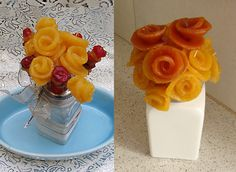Use Fruit Roll-Up To Make Healthy Cake Decorations & Mini Edible Bouquets!