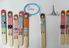 teawagontales: washi tape dollies