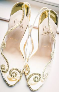 Gold Louboutins