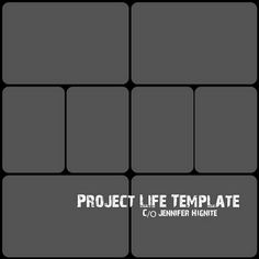 Free template download for the popular Project Life project. Thank you!!!