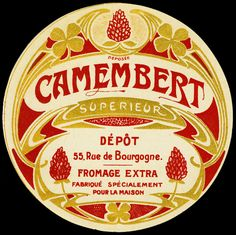 Camembert Vintage Label
