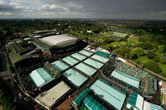 Beautiful overhead shot of Wimbledon
