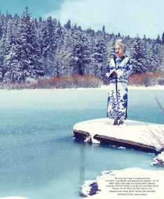 "Beautiful Furs featured in ""Snow Angel"" in Harper's Bazaar September 2013 