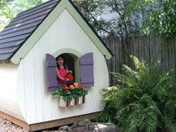 Playhouses on pinterest playhouses treehouse kids and for Whimsical playhouse blueprints