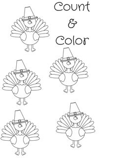 count & Color Turkey
