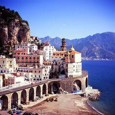 seaside village, amalfi coast, italy.