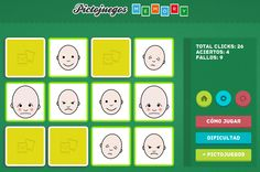 SOFTWARE - Pictojuegos: Memory.  Juego de memoria clásico orientado a la comprensión, reconocimiento y discriminación de emociones a través de la unión de parejas iguales de pictogramas ARASAAC.  http://www.pictojuegos.com/memory/