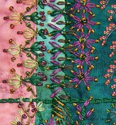 I ❤ beadwork & embroidery . . .  Beginning Embroidery with Bead Embellishment with Christen Brown