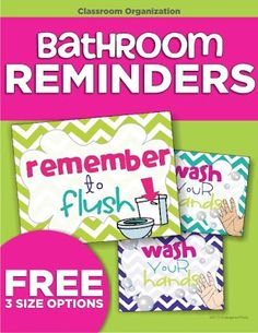 Free bathroom signs