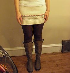 DIY sweater skirt tutorial