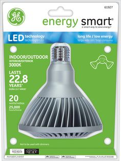 GE Energy Smart 75W Replacement (20W) PAR38 LED Bulb (Warm, Dim, Energy Star) $77.95