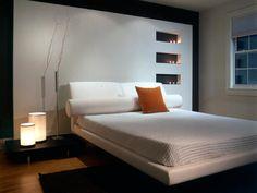 All white bedrooms...Japanese inspired bedroom