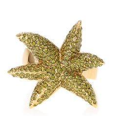 Marc by Marc Jacobs Pave Palm Ring in Olivine