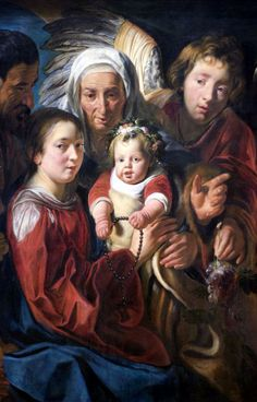 The Holy Family: Jacob Jordaens