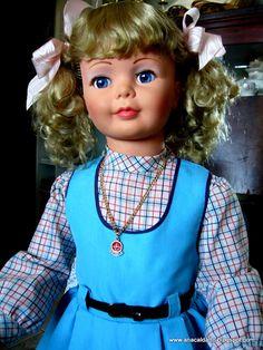 Boneca Amiguinha de 1979 manufatura Estrela - Brazil / Ideal Toys Corp. da Boneca Patti Playpal - USA