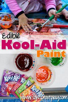 Yummy smelling Edible Kool-Aid Paint! So easy to make!