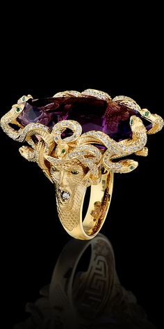 Master Exclusive Jewelry - Medusa amethyst ring