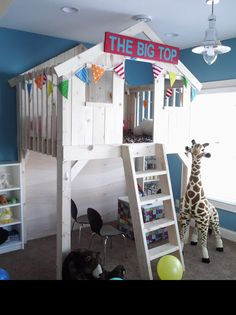 "Sunshine on the Inside | Changes out her Play House for the kids each month with a different theme. April was ""The Big Top"".  Tons of fun ideas!"