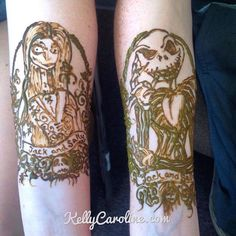 Jack and Sally henna