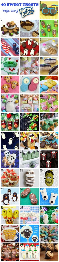 Awesome... 40 Sweet Treats made using Nutter Butters