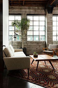 Rustic scandinavian living room #design #interior