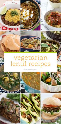 12 Vegetarian Lentil Recipes from Oh My Veggies
