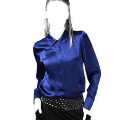 Выкройка классической женской блузки с вытачками