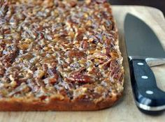 Pecan Cake Bars Recipe