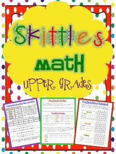 Skittles Math Printables for the Upper Grades $