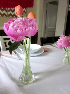 a lovely table setting for mother's day