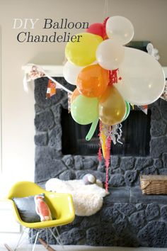 *Press on the link* Make your own balloon chandeliers! Perfect for birthday parties and fun to make as well!
