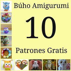 10 Patrones de Búhos Amigurumi Gratis