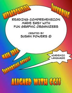 Graphic Organizers for Reading Comprehension from Cool Teaching Tools on TeachersNotebook.com -  (5 pages)