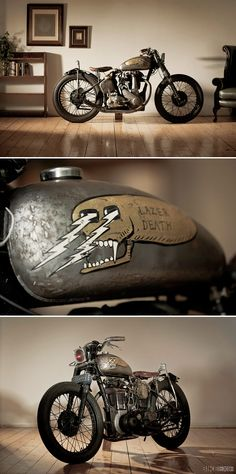 You probably don't know the name Maxwell Paternoster. But you might recognize his alter ego Corpses From Hell, one of the foremost motorcycle-influenced artists working in Europe today. Paternoster's style is edgy and unconventional, and it's spilt over into his own personal ride—a unique custom BSA built up from spare parts and junkyards finds over the years.