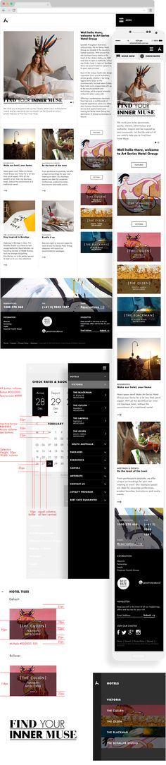 Art Series Hotel #UX #Responsive #Design and #Development by Carter
