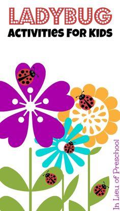 7 Ladybug Activities for Kids - In Lieu of Preschool