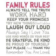 I pinned this Family Rules Wall Art from the Sweet Finishes event at Joss and Main!